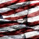 American Flag 1 w/ Rock - Truck Window Perf