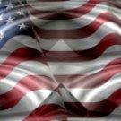 American Flag 2 w/ Chrome - Truck Window Perf