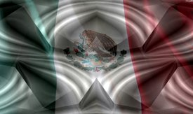 Mexican Flag w/ Chrome - Truck Window Perf