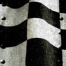 Racing Flag w/ Rivets - Truck Window Perf