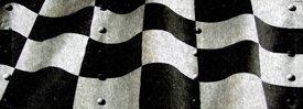 Racing Flag w/ Rivets - Truck Window Perf