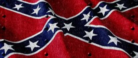 Rebel Flag w/ Rivets - Truck Window Perf