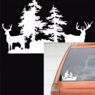 Deer Scene - Small Decal