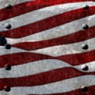 American Flag 1 w/ Rivets - Car Window Perf