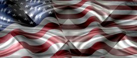 American Flag 2 w/ Chrome - Car Window Perf