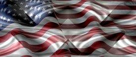 American Flag 2 w/ Chrome - SUV Window Perf