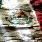Mexican Flag w/ Rock - Car Window Perf