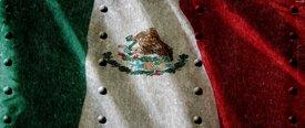 Mexican Flag w/ Rivets - Car Window Perf