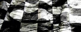 Racing Flag w/ Rock - Car Window Perf
