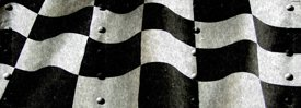 Racing Flag w/ Rivets - Car Window Perf