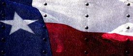 Texas Flag 1 w/ Rivets - Car Window Perf