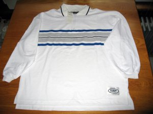 NWT LA Blues White Blue Grey Shirt LG/XLG with Zipper