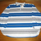 NWT LA Blues White Blue Grey Shirt Stripe LG/XLG w/zip