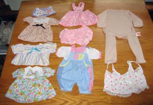 The Original Doll Baby Body Form & Lot of Doll Clothes
