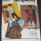 Simplicity 7469 Pattern Christopher Columbus, Cowboy and Pilgrim