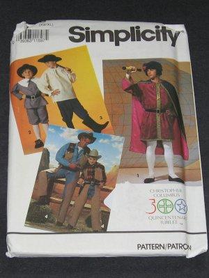 Simplicity 7469 Pattern Christopher Columbus, Cowboy and Pilgrim