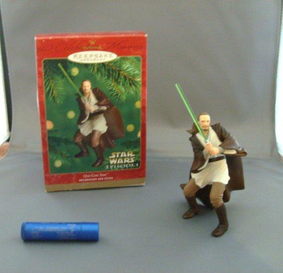 Star Wars Qui Gon Jinn Hallmark Xmas Christmas Tree Ornament MNMB
