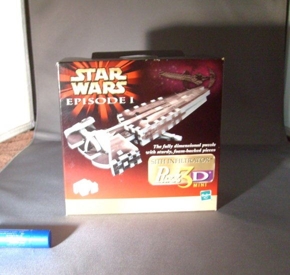 Star Wars The Phantom Menace Darth Maul Sith Infiltrator Ship Puzzle 73pc