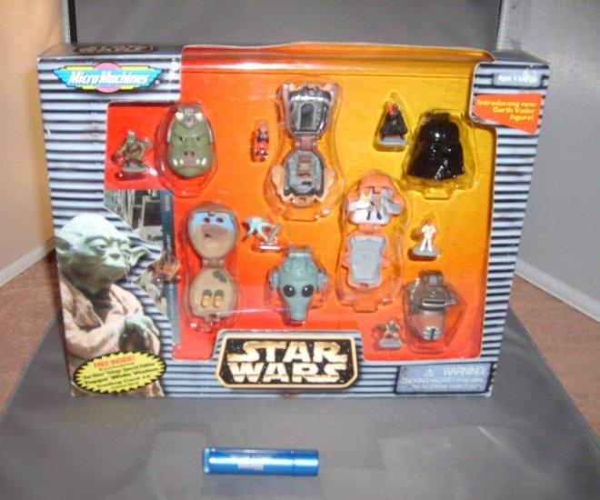 Star Wars Super Rare Micro Machines Heads & Topps Card