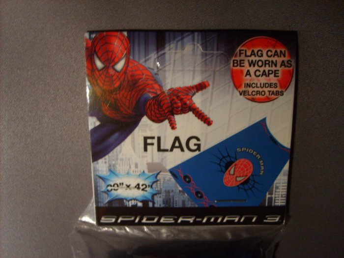 Spiderman Super Hero Flag or Cape Hard To Find MINT!