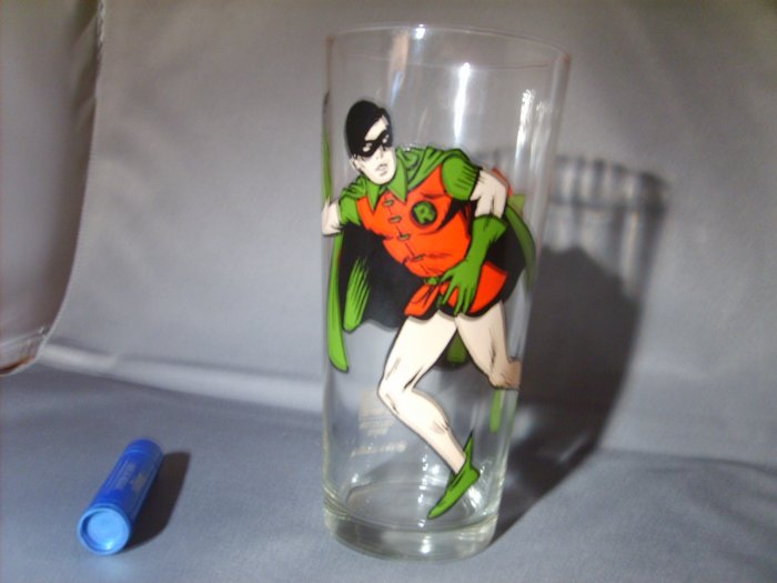 Robin from Batman 1978 DC comics Pepsi Collector Series Glass