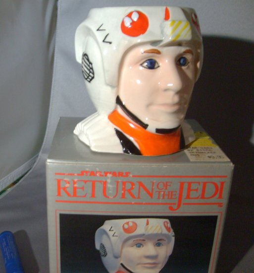 Star Wars Luke Skywalker X Wing Pilot Sigma ROTJ Return Of The Jedi Ceramic Mug M-NM