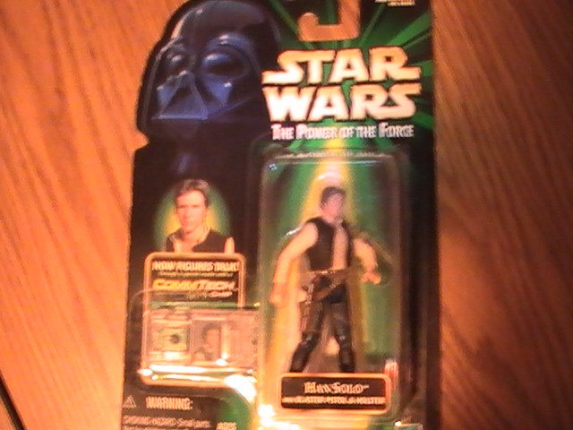 Star Wars POTF2 Green Card Commtech Rarer Foil Chip Version 3 3/4 inch Han Solo  Figure See Others!