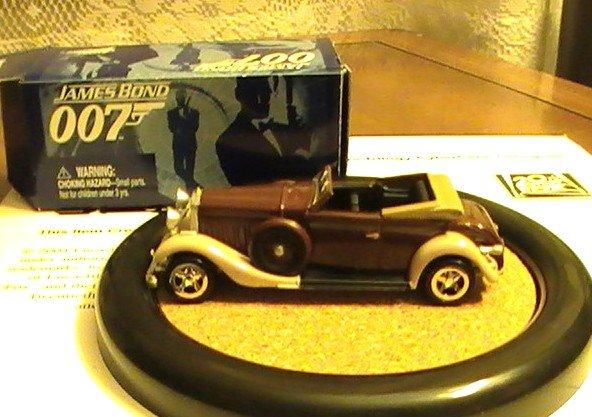 James Bond 007 Johnny Lightning  Action Hero LE Drax's Hispano Suiza # 1 Rare