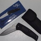 "Black Delta Ranger Locking Tactical 4 3/4 "" Closed Flying Falcon Collectible Collector Knife"