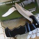 "Black Defender 4 3/4 "" Lockback Closed Collectible Collector Pocket Knife"