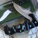 "Black Defender Camo 4 3/4 "" Lockback Closed Collectible Collector Pocket Knife"