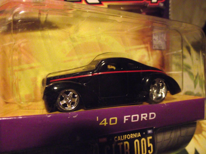 Jada D-Rods D Rods Black 1940 Custom Ford Hotrod Die Cast Car
