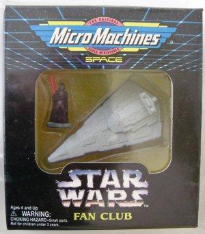 Star Wars Fan Club Micro Machines Star Destroyer & Vader Figure