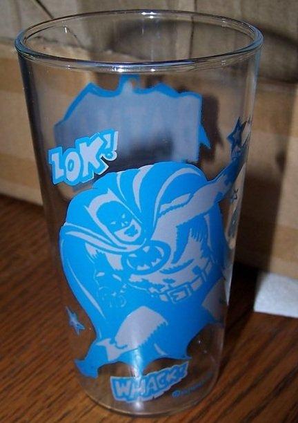 Batman The Darkknight Blue Grey Glass Super Hero 1966 National Periodical Publications MINT
