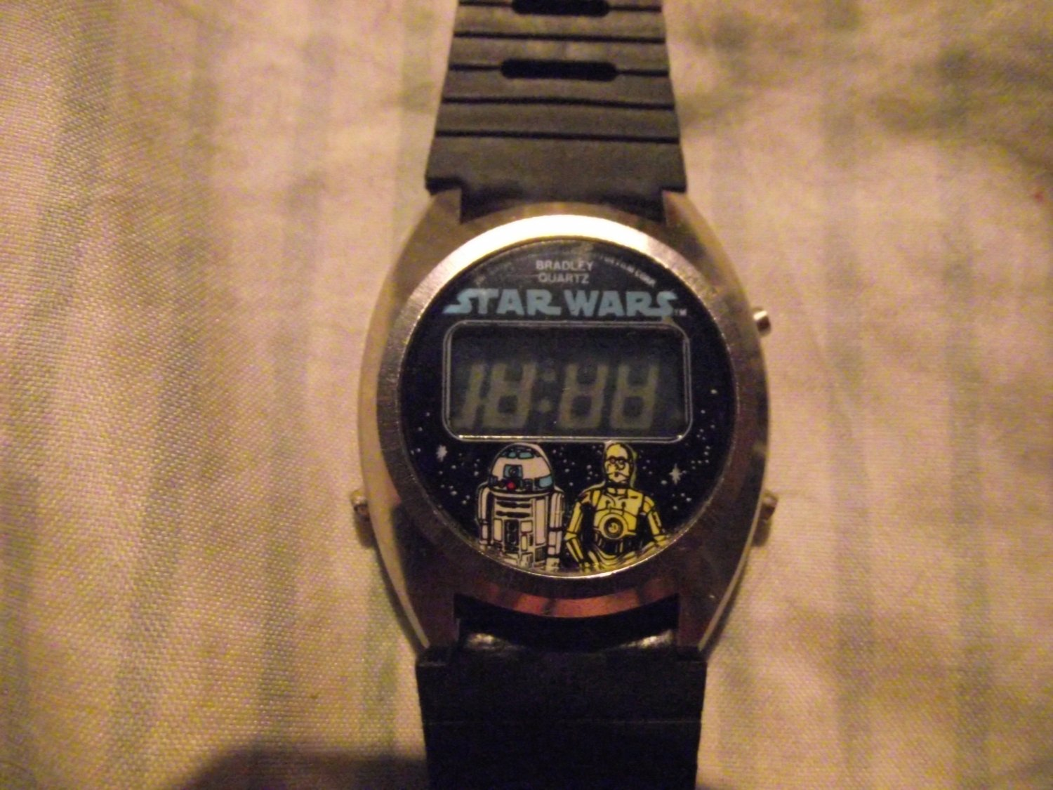 Star Wars R2D2 C3PO LCD Bradley 3 Button Watch Rare Vintage VHTF