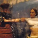 Star Wars Padme Amidala Ep2 Tied Gun To Hand & Mole On Cheek Also Bkgd Card