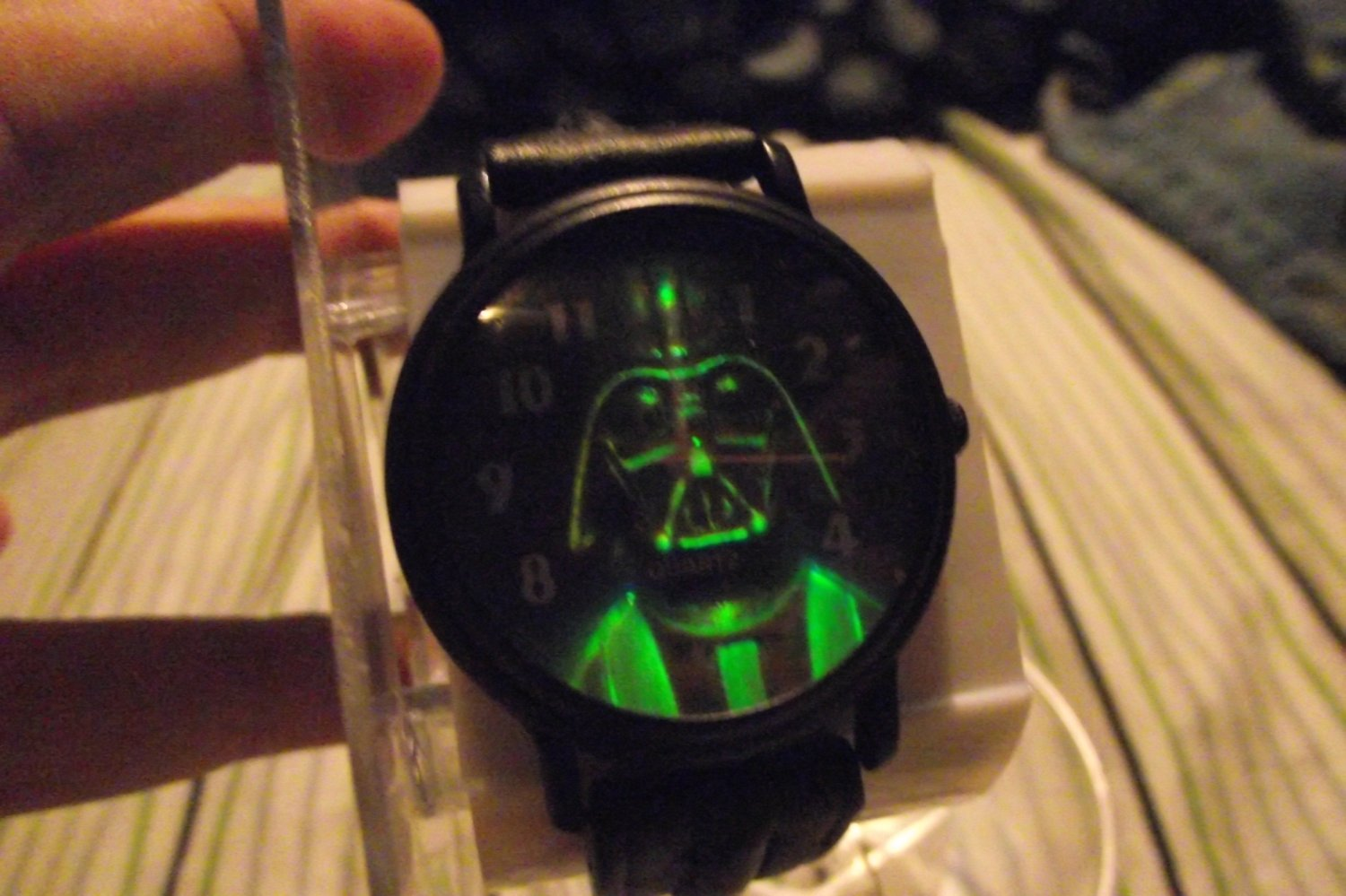 Star Wars Darth Vader 3D HTF Metal Case Watch With Leather Band Version