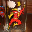 Shazam Super Hero Rounded Bottom Variant Super Hero Glass by Pepsi! VHTF
