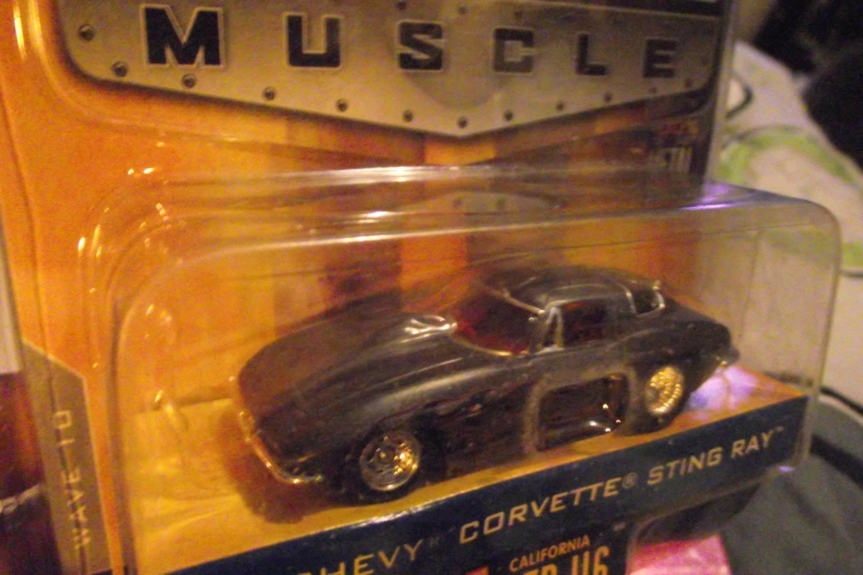 Jada 1963 63 Corvette Big Time Muscle Sting Ray Grey W/ Flames Die Cast Car