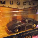 Jada 1963 63 Corvette Big Time Muscle Sting Ray Grey W/ Flames Die Cast Car