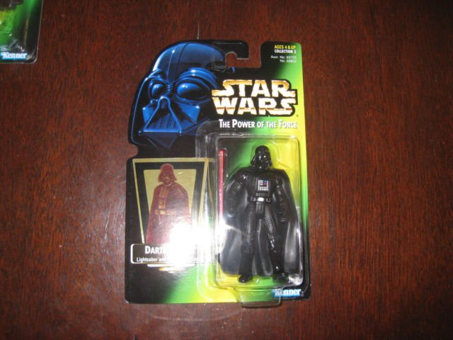 Star Wars Rare SOTE Retooled Green Card Error Variant POTF Darth Vader Figure
