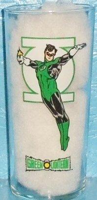 Green Lantern Batman Superman 1993 DC Comics Super Powers Glass Hero WB