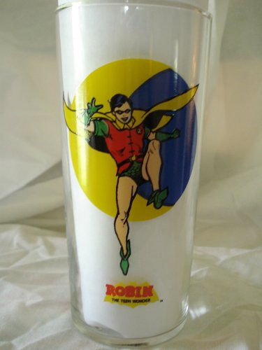 Robin Batman 1993 Vintage Batman DC Comics Super Powers Glass