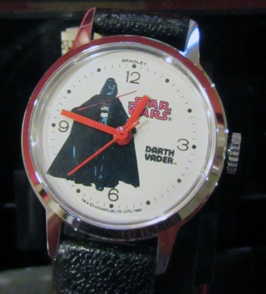 Star Wars Darth Vader Vintage Windup Bradley Watch Rare
