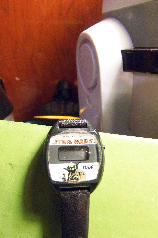 Star Wars Yoda LCD Bradley Watch Rare Vintage Edition VHTF