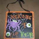 *~SALE!*~New Halloween 'welcome to our web' Sign-plaque