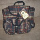 *~NWT Gate of India handmade Navy Plaid Backpack Purse