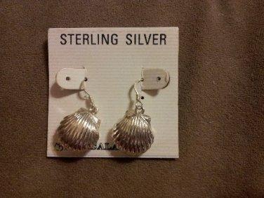 *~New Sterling Silver Sea Shell Earrings