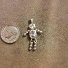 *~Vintage Sterling Silver Light Purple Birthstone boy Charm/pendant
