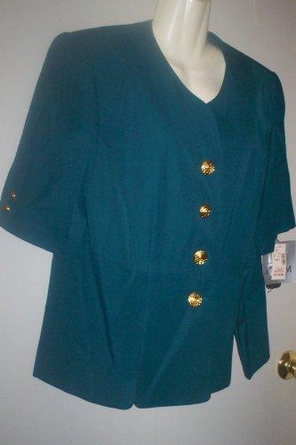 *~SALE!NWT Vintage ATRIUM 2 PC Skirt Suit Set sz 14W